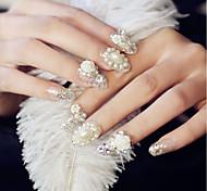 cheap -24 Pearls Rhinestones Nail Jewelry Glitters Fashion High Quality Daily