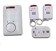 Wireless Infrared Motion Detecting Alarm System with Two Remote Controls for Home Security