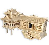Недорогие -Деревянные пазлы Китайская архитектура Лошадь профессиональный уровень Дерево Карнавал День рождения День детей