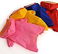 Недорогие -Кошка Собака Дождевик Одежда для собак Водонепроницаемый Сплошной цвет Цвет отправляется в случайном порядке