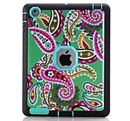 Per Acqua / Dirt / Shock Proof Fantasia/disegno Custodia Integrale Custodia Fiore decorativo Resistente TPU per Apple iPad 4/3/2