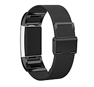 PINHEN Mesh Stainless Steel Metal Bracelet with Connector Replacement Strap Band for Fitbit Charge 2 Heart Rate and Fitness Wrist Band