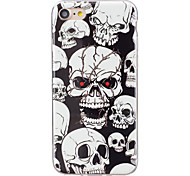 cheap -Case For Apple iPhone X iPhone 8 Plus iPhone 5 Case iPhone 6 iPhone 7 Glow in the Dark IMD Back Cover Skull Soft TPU for iPhone X iPhone