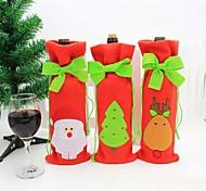Недорогие -рождества красное вино мешок бутылки крышка сумки обеденный стол домашнее украшение рождества для украшения рождества