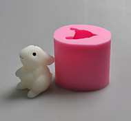 Rabbit Animal Shaped 3D Candle Mold Silicone Fondant Cake Mold The Chinese Zodiac Salt Carving Mould Party Decoration Tools