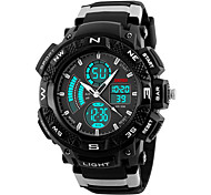 Skmei®Men's Dual Time Zone Outdoor Sports Multifunction Wrist Watch 30m Waterproof Assorted Colors