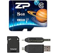 ZP 8GB Карточка TF Micro SD карты карта памяти UHS-I U1 Class10