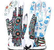 Ski Gloves Men's Women's Full-finger Gloves Keep Warm Waterproof Quick Dry Windproof Anti-skidding Snowproof Leatherette Polyester 100%