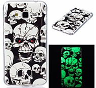 For Case Cover Glow in the Dark IMD Pattern Back Cover Case Skull Soft TPU for Samsung Galaxy J7 (2016) J7 J5 (2016) J5 J3 J3 (2016)