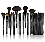 Make-up For You® 24pcs Makeup Brushes set Pony/Horse Hair Limits bacteria/Professional Black Blush/shadow/Lip/Lash/Powder Brush