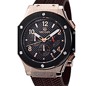 MEGIR Men's Sport Watch Military Watch Fashion Watch Wrist watch Quartz Genuine Leather Band Luxury Vintage Casual Multi-Colored