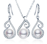 preiswerte -Perle Künstliche Perle Strass Diamantimitate Schmuck-Set 1 Halskette 1 Paar Ohrringe - Schmuckset Für Hochzeit Party Alltag Normal