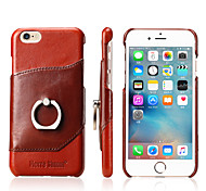For iPhone X iPhone 8 iPhone 8 Plus iPhone 7 iPhone 7 Plus iPhone 6 Case Cover Ring Holder Back Cover Case Solid Color Hard Genuine