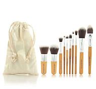 cheap -Pro Makeup Cosmetic Blush Brush Eyebrow Foundation Powder Kabuki Brushes Kit Set(11PCS)