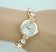Women's Fashion Watch Bracelet Watch Rhinestone Imitation Diamond Quartz Alloy Band Charm Casual Elegant Gold Strap Watch