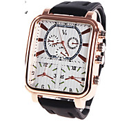Men's Sport Watch Military Watch Dress Watch Fashion Watch Wrist watch Quartz Digital Genuine Leather Band Charm Luxury Vintage Casual