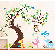 Children Room Cartoon Paradise Animal Decorative Wallpaper Paste Significantly Murals