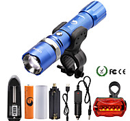 U'King LED Flashlights / Torch Flashlight Kits LED 2000 lm 5 Mode Cree XM-L T6 Adjustable Focus Zoomable Dimmable for