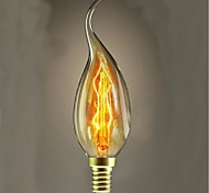 25W C35L Tungsten Bulb Candle Pull Tail Candle European-Style Decor(Assorted Color)