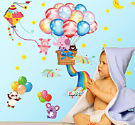 Cartoon Happy Balloon Elephants Wall Stickers DIY Fashion Children'Sroom Wall Sticker Home Decoration Wall Decal