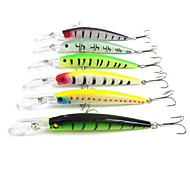 "6 pcs Hard Bait Minnow Fishing Lures Hard Bait Minnow Assorted Colors g/Ounce,145 mm/5-9/16"" inch,Hard PlasticSea Fishing Bait Casting"