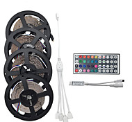 20m (4 * 5m) 1200smd 3528 rgb 44keys ir télécommande led led strip sets ac100-240v