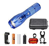 U'King LED Flashlights / Torch Flashlight Kits LED 2000 lm 5 Mode Cree XM-L T6 Adjustable Focus Compact Size Zoomable Dimmable for