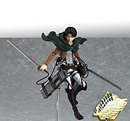 Недорогие -Аниме Фигурки Вдохновлен Атака титанов Mikasa Ackermann ПВХ 14 См Модель игрушки игрушки куклы