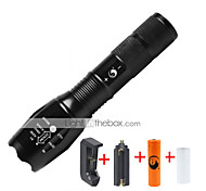U'King LED Flashlights / Torch Flashlight Kits LED 1000 lm 5 Mode Cree XM-L T6 Adjustable Focus Compact Size Zoomable Dimmable for