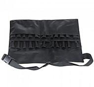 cheap -1Pcs Black Two Arrays Makeup Brush Holder Professional Pvc Apron Bag Artist Belt Strap Protable Make Up Bag Cosmetic Brush Bag