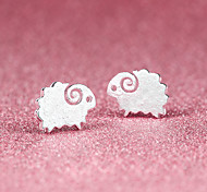 cheap -Stud Earrings Cute Style Silver Plated Silver Sheep Animal Jewelry Party Daily Casual Costume Jewelry