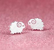 Недорогие -Серьги-гвоздики Симпатичные Стиль бижутерия Серебрянное покрытие В форме животных Овечья шерсть Бижутерия Назначение Для вечеринок