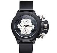 ASJ® Men's Unisex Sport Watch Fashion Watch Wrist watch Quartz Water Resistant / Water Proof Silicone Band Charm Cool Casual Black Watch