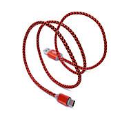 USB 2.0 Тип C Плетение Кабели Назначение Samsung Huawei Sony Nokia HTC Motorola LG Lenovo Xiaomi 100 cm Нейлон