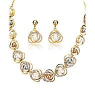 preiswerte -Damen Strass / Imitierte Perlen Perle / 18K Gold Schmuck-Set 1 Halskette / 1 Paar Ohrringe - Europäisch Gold Schmuckset Für Hochzeit /