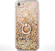 For iPhone 8 iPhone 8 Plus iPhone 7 iPhone 7 Plus iPhone 6 Case Cover Flowing Liquid Ring Holder Back Cover Case Glitter Shine Hard PC for