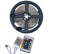 youoklight wasserdicht 5m 300-3528 smd RGB-LED-Lichtband mit 24key Fernsteuerung (DC 12 V / 5 m)