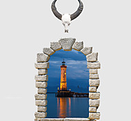 Недорогие -Мода Пейзаж 3D Наклейки Простые наклейки 3D наклейки Декоративные наклейки на стены,Бумага материал Украшение дома Наклейка на стену