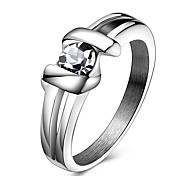 Women's Statement Rings Ring Crystal Crystal Titanium Steel Jewelry For Party Daily Casual Sports