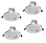 Z®ZDM 4PCS 5W 400-450LM Dimmable LED Downlights Warm White/Cool White/Natural White AC12V/110/220V