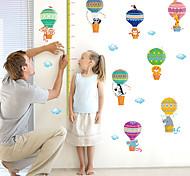 Недорогие -Животные Мультипликация Мода Наклейки Простые наклейки Декоративные наклейки на стены Линейка роста,Бумага материал Украшение дома