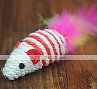 Недорогие -Дразнилки / Игрушка с перьями Мышь текстильный Назначение Игрушка для котов
