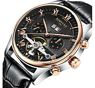 cheap -KINYUED Men's Automatic self-winding Mechanical Watch Wrist Watch Skeleton Watch Calendar / date / day Chronograph Water Resistant /