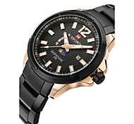 cheap -NAVIFORCE Men's Wrist Watch Calendar / date / day / Water Resistant / Water Proof / Cool Stainless Steel Band Fashion Black / Silver