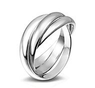 cheap -Women's Ring Band Ring Silver Alloy Circle Fashion Wedding Party Special Occasion Daily Casual Costume Jewelry