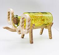 YouOKLight Creative Handmade Glass Bottle Wood Elephant Light - Yellow/Red/Blue