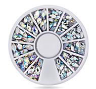 New Crystal AB Nail Art Rhinestones2 sizes Fashion Glitter Nail Beads CraftBeauty Manicure Nail Decorations