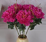 Недорогие -Искусственные Цветы 1 Простой стиль Пионы Букеты на стол / Не включено