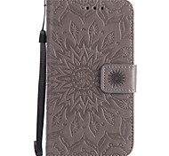 cheap -Case For Nokia Lumia 630 Nokia Lumia 640 Nokia Card Holder Wallet with Stand Flip Pattern Embossed Full Body Cases Mandala Hard PU Leather