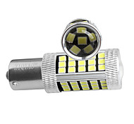 ZIQIAO 2pcs P21W 1156 BA15S 66 SMD 7506 Super Brightness Brake Parking Reverse Lights Fog Lamps Turn Signal Bulb DC12V